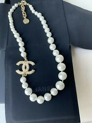 CHANEL Anniversary Classic 1 CC loge Pearl Necklace $185.20