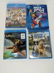 Lot of 4 Movies Rock Dog 2 Beverly Hills Chihuahua 2 Underdog Cats amp; Dogs 3 $14.99