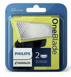 Philips Norelco OneBlade Replacement blade 2 Pack Wet and Dry Use QP220 80 $19.99
