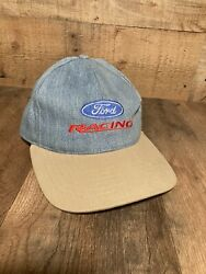 vintage for racing demin hat made in usa $25.00