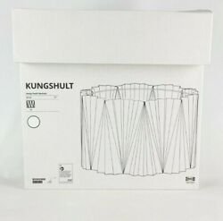 Ikea KUNGSHULT Lamp Shade Large Floor Pendant Table Pleated White 17quot; New $69.99