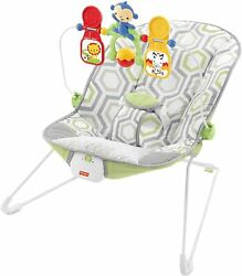 Fisher Price Baby Bouncer Geo Meadow Infant Soothing and Play Seat Multi $42.99