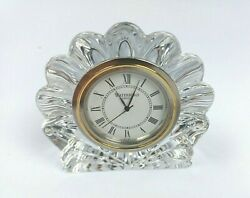 Waterford Crystal Clamshell Seashell Desk Clock New Battery $25.98