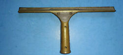 Vintage Antique Brass Ettore Master Squeegee Made In Oakland CA USA $22.99