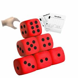 4 Inch Jumbo Foam Dice Set of 6 Yard Outdoor Games for Adults and Family Incl... $32.52
