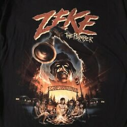 Nickelodeon Salute Your Shorts Zeke The Plumber Fright Rags Horror Shirt XL OOP $40.00