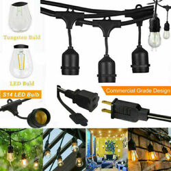 Outdoor String Lights Waterproof Commercial Patio Globe Fairy LED Tungsten Bulbs