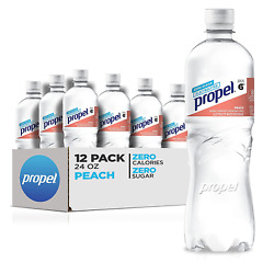 Propel Peach Zero Calorie Water Beverage with 24 Fl Oz Pack of 12 $19.89