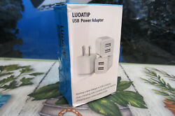 USB POWER ADAPTER CHARGER DUAL 3 PACK $10.95