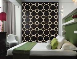 Circle Wall Decals Mid Century Modern Decor Retro Wall Decal Modern Decals $110.00