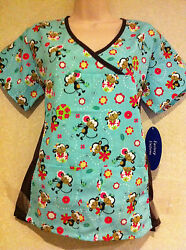 MONKEY ON BALL WOMEN NURSING SCRUB TOP. SEE MORE STYLE BELOW