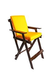 Bar Height Chairs - Oak Frames with Sunbrella Cushions - Indoors or Outdoors