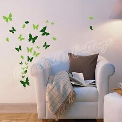 Up to 53 Mixed Butterfly Bedroom Bathroom Kitchen Wall Art Stickers Kids Decals $3.20