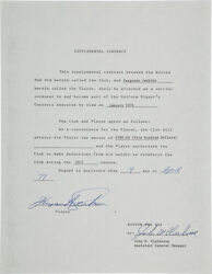 1977 Fergie Jenkins Signed Supplemental Boston Red Sox Contract!!