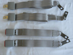 2 SETS of Light Gray 2 Point Seat Belt Lap Belt  New MANUFACTURED BY TRW  60