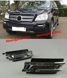 2x LED daytime running light DRL with fog lamp cover for 06~09 BENZ W164 GL450 A