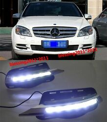 LED daytime running light DRL for Mercedes-Benz W204 C-Class C180 C300 2008-2010