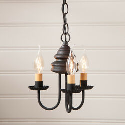 3 Arm Bellview Wood Country Chandelier in 6 Color Choices. Country Lighting $199.45