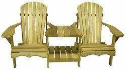 (1) Bear Chair BC900C Red Cedar Adirondack Tete-a-Tete Patio Porch Chair Kit