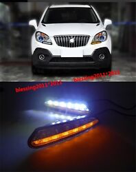 2X LED daytime running light DRL with turn signal For 2012-2013 Buick Encore  AA