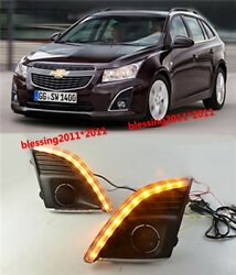 2x LED Daytime Running Lights DRL with Turn Signal For Chevrolet Cruze 2013-2014