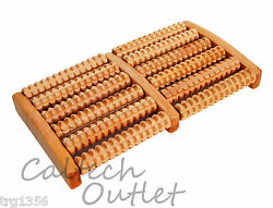 6 Raw Wooden Wood Roller Foot Massager Stress Relief HealthTherapy Relax Massage