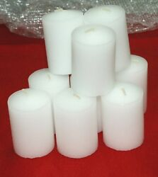 4 15 Hour Unscented Votive White Candles Longer Burn Made In The USA BULK $15.99