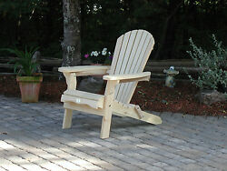 (1) The Bear Chair BC300P White Pine Folding Adirondack Patio Porch Chair Kit