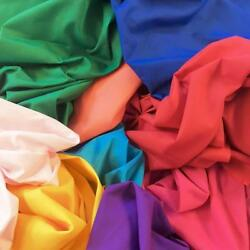 Cotton Polyester Broadcloth Fabric Apparel 45quot; Inch Solid Per Yard Poly Cotton $1.99
