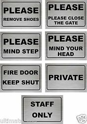 Door Sign Shop Wall Office MIND STEP MIND YOUR HEAD STAFF ONLY PRIVATE GBP 5.99