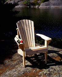 (1) The Bear Chair BC101P White Pine Muskoka Adirondack Patio Porch Chair Kit