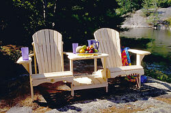 (1) The Bear Chair BC900P White Pine TeteaTete Adirondack Patio Porch Chair Kit