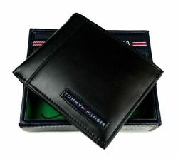 Tommy Hilfiger Men#x27;s Leather Credit Card Wallet Billfold Black 5675 01 $25.99