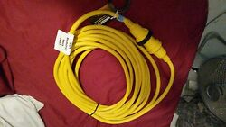 (2) MARINCO 3750W 30A 125V 50FT YELLOW BOAT SHORE POWER CORDCABLE