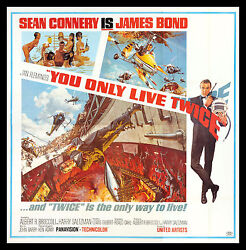 YOU ONLY LIVE TWICE * CineMasterpieces 6 SIX SHEET 1967 MOVIE POSTER JAMES BOND