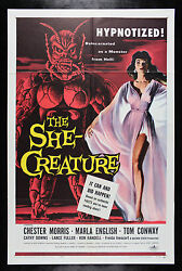 THE SHE CREATURE ✯ CineMasterpieces HORROR MOVIE POSTER 1956 SCI FI MONSTER