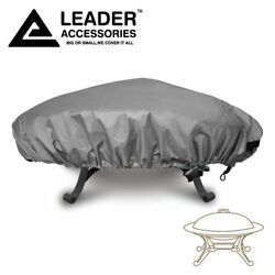 100% Waterproof Heavy Duty Outdoor Patio Round Fire Pit Cover 44 in.D 60 in.D