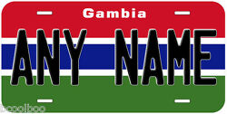 Gambia Flag Novelty Car License Plate $17.90