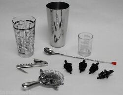 10 pc. PROFESSIONAL BARTENDER COCKTAIL MIXING SET Bar Tools amp; Accessories Kit $26.95
