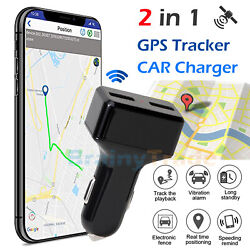 Real Time Vehicle Tracking Device Car GPS Tracker amp; USB Charger with Live Audio $39.95