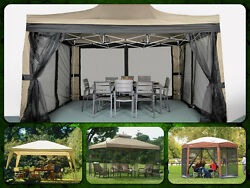 Gazebo Patio Pergola Gazebos Canopy Outdoor Furniture Metal Tent Garden Cover