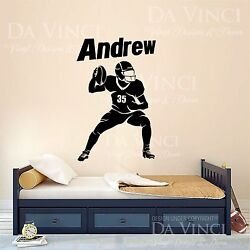 American Football Player Decal Custom Name Wall Personalized Vinyl Sticker A $49.99