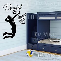 Volleyball Player Decal Custom Name Wall Personalized Vinyl Sticker Decor $37.99