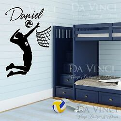 Volleyball Player Decal Custom Name Wall Personalized Vinyl Sticker Decor