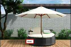 Cozy Double Chaise Lounge Outdoor Patio Furniture Poolside Garden Resin Chairs