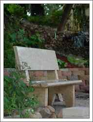 Granite Park Bench - Multiple Colors Available