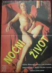 1982 Original Erotic Movie Poster Nightlife Adult Louis Lewis USA Loni Sanders