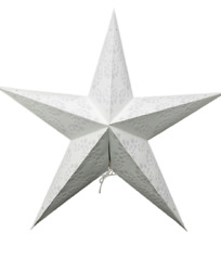 Star Light Lamp White Geometric Design Star Paper Lantern with 12#x27; light cord $22.49