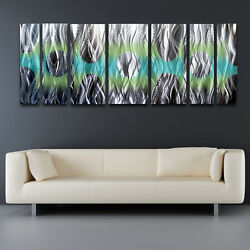 Contemporary Metal Wall Art Panels Modern Abstract Sculpture Painting Home Decor $350.00