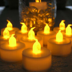 6-60pcs Electronic Flameless LED Tea light Candles smokeless Candles for party